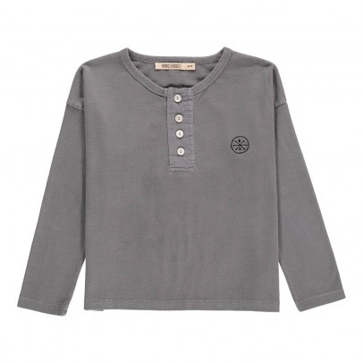 Bobo Choses Organic Cotton Metamorphose Henley Neck T-Shirt-listing