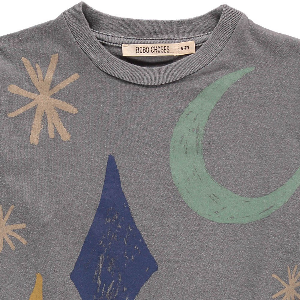 Bobo Choses Organic Cotton Moon Long Sleeve T-Shirt-product