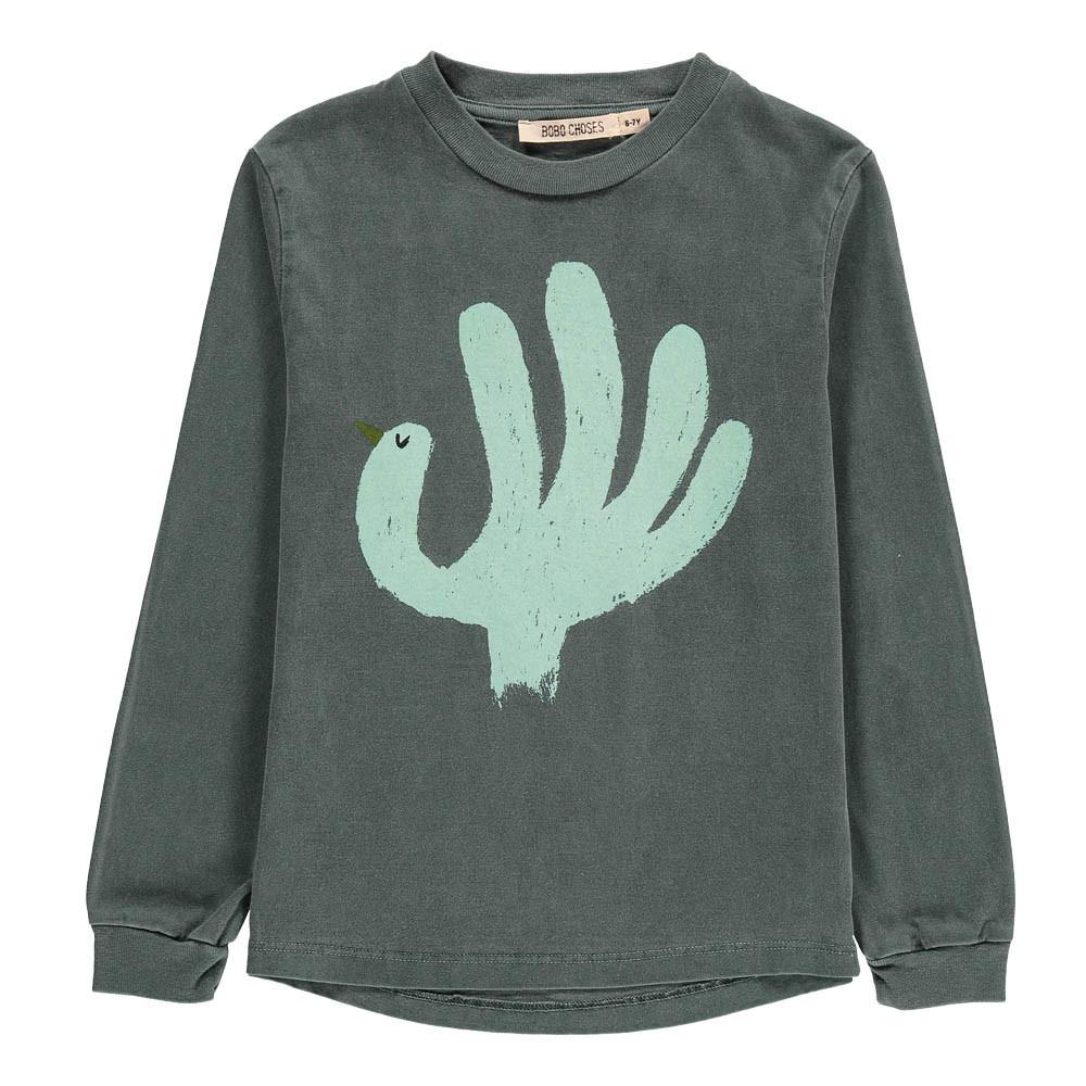 Bobo Choses Organic Cotton Bird Long Sleeve T-Shirt-product