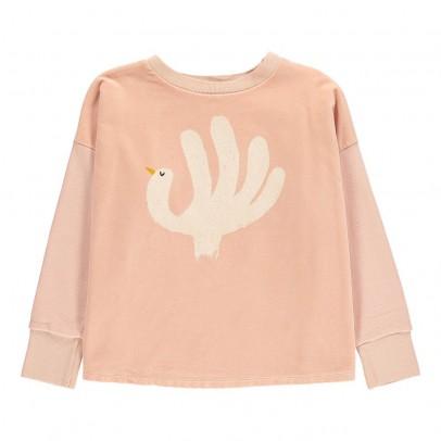 Bobo Choses Organic Cotton Velour Bird Sweatshirt-listing