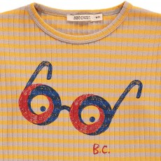 Bobo Choses T-Shirt Loose Rayé Lunettes-listing