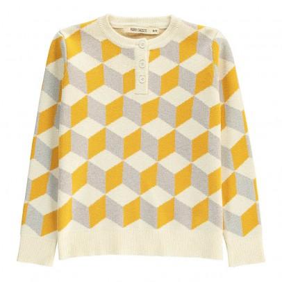 Bobo Choses Geometric Henley Neck Pullover-listing