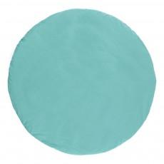 Nobodinoz Alfombra de juego de algodón triángulos negro verde-listing