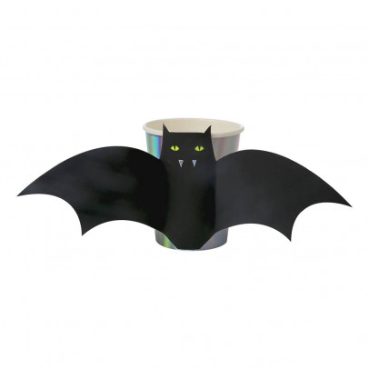 Meri Meri Vasos de plástico Murciélago batman - Set  de 8-listing