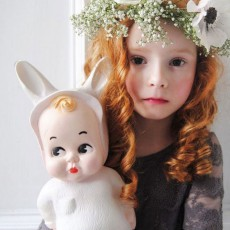 Lapin and Me White baby rabbit lamp-listing