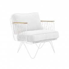 product-Honoré Croisette White and White Cotton Armchair