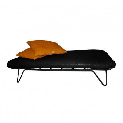 Honoré Black leather bed-listing