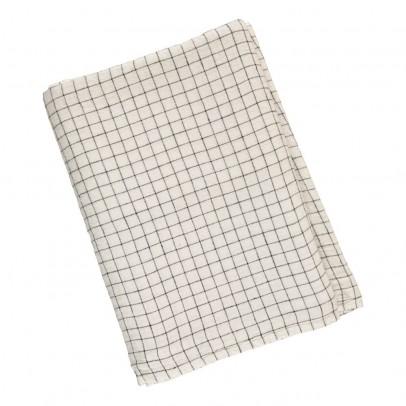Linge Particulier Mantel lino lavado Cuadros XL Blanco- Negro-listing