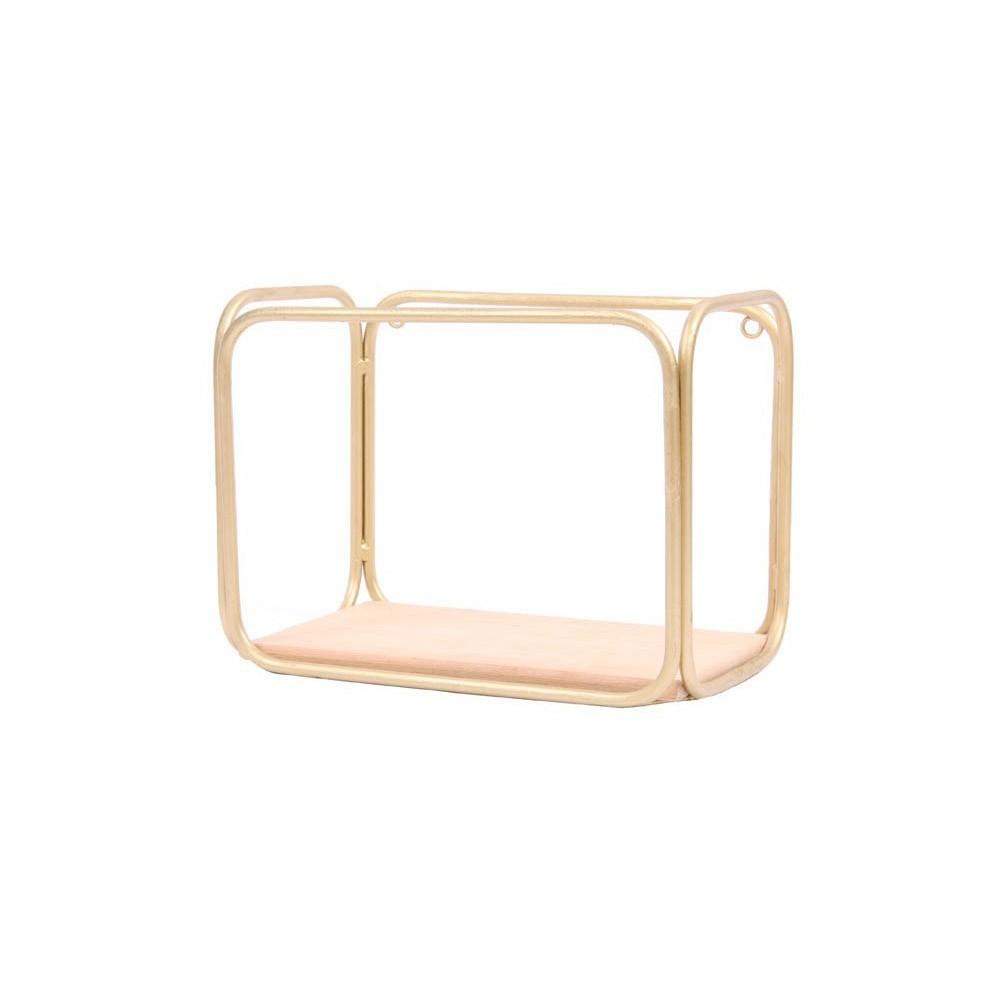 Honoré Etagère tube doré et cèdre-product
