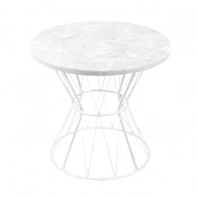Honoré Table Tamtam marbre pieds blancs-product