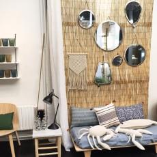 Honoré Table Beldi bois et marbre blanc-listing