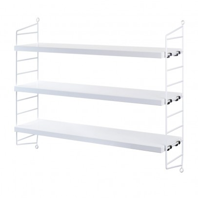 String 'Pocket' shelf unit - white-listing