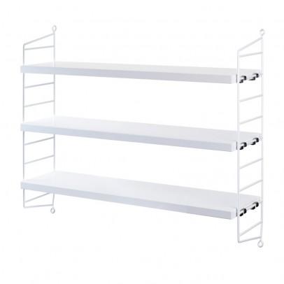String 'Pocket' shelf unit - white-listing