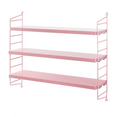 String 'Pocket' shelf unit - pink-listing