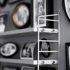 String 'Pocket' shelf unit - grey-listing