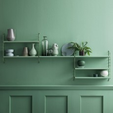 String Pocket shelf unit - almond green-listing