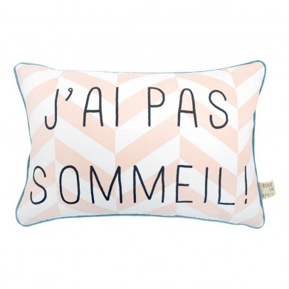 "Rose in April ""J'ai pas sommeil"" Striped Cushion - 20x30 cm-listing"