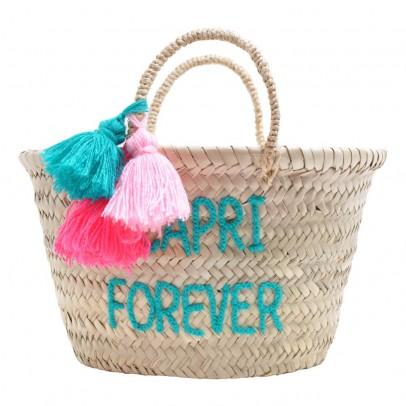 Rose in April Panier pompon brodé Capri forever-listing