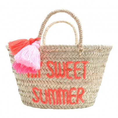 Rose in April Embroidered Pompom My Sweet Summer Basket-listing