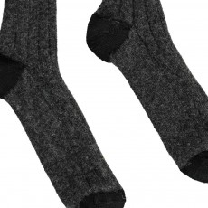 Soeur Two-Tone Lurex Ribbed Socks-listing