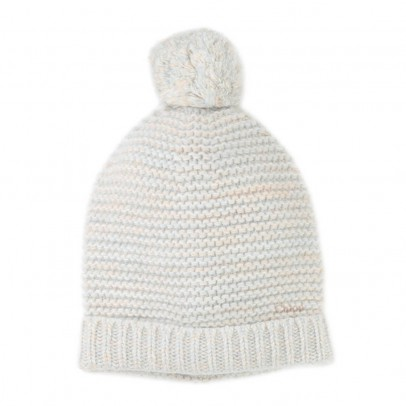 Chloé Garter Stitch Beanie with Pompom-listing
