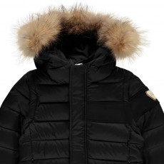 Gertrude + Gaston Little Pierre Down Jacket with Fur-Lined Hood and Detachable Sleeves-listing