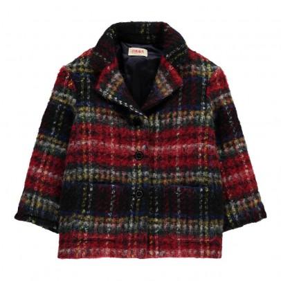MAAN Karo-Mantel aus Wolle und Mohair True-listing
