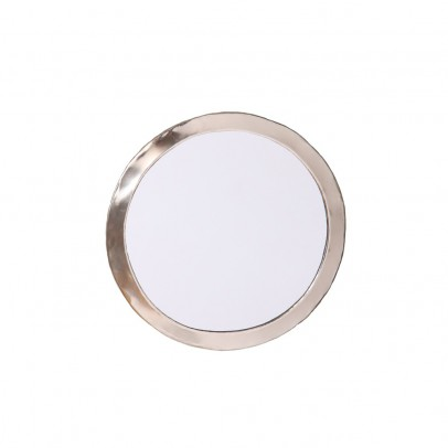 Smallable Home Round Nickel Silver Mirror-listing