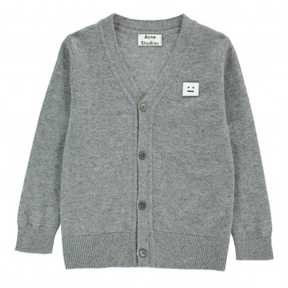 Acne Studios Mini Dasher Bonhomme Patch Cardigan-listing