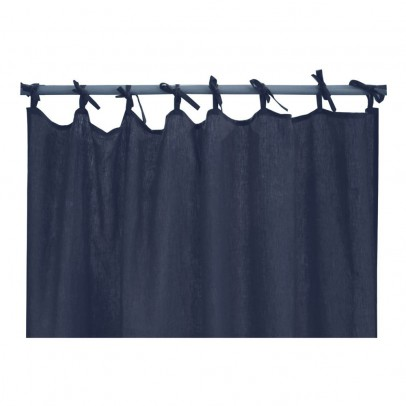 Lab Washed Linen Curtains (with bows)-product