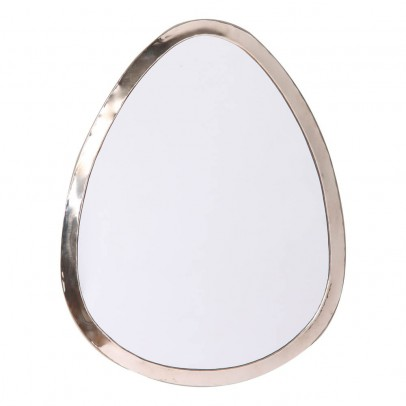 Smallable Home 40x30 cm Egg-Shaped Nickel Silver Mirror-listing