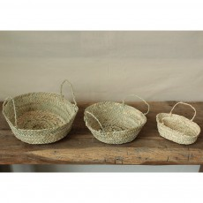 Smallable Home Round Woven Palm Leaf Basket-listing