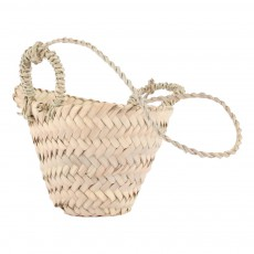 product-Smallable Home Woven Palm Leaf Hanging Basket