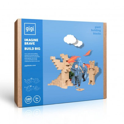 Gigi Bloks Juego de construcción en cartón - Set de 100 bloques -listing