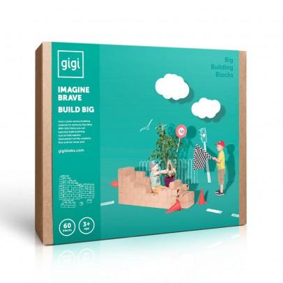 Gigi Bloks Gioco di costruzioni in cartone- Set da 60 blocchetti-listing