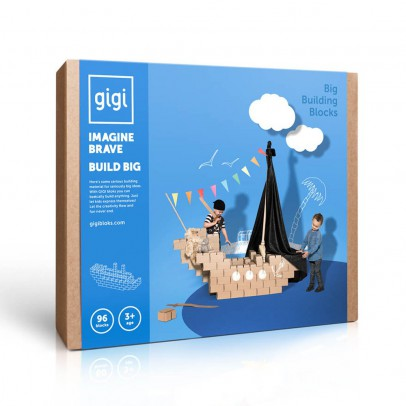 Gigi Bloks Jeu de construction en carton - Set de 96 blocs-listing