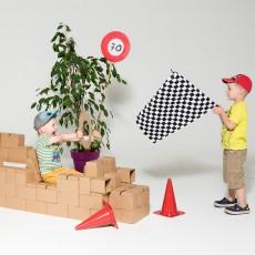 Gigi Bloks Juego de construcción en cartón - Set de 96 bloques -listing