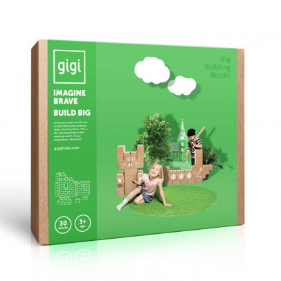 Gigi Bloks Juego de construcción en cartón - Set de 30 bloques -listing
