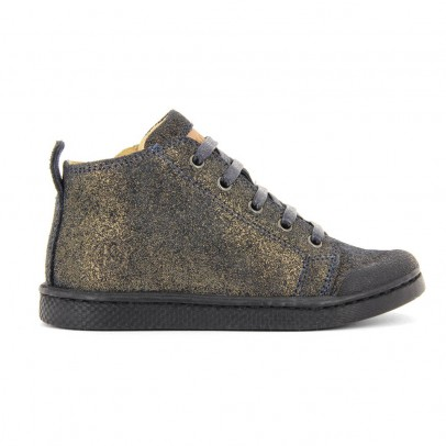 10 IS Iridescent Suede Zip-Up Ten Mid Lace Trainers-listing