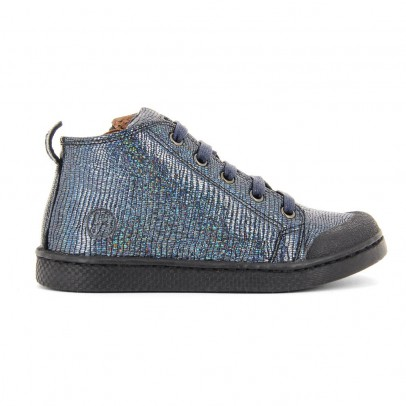 10 IS Glitter Leather Lace-Up Zip-Up Ten Mid Trainers-listing