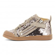 10 IS Sequins Lace-Up Zip Ten Bind Trainers-listing