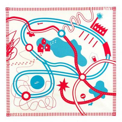 Deuz Tapikid Spielteppich Rot und Blau-listing
