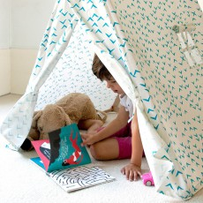 Deuz Tente en coton bio - hirondelles bleues-listing