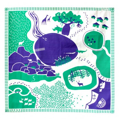 Deuz Tappeto Bambini Blu e verde-listing