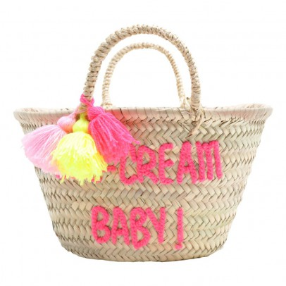 Rose in April Embroidered Ice cream baby Basket-listing