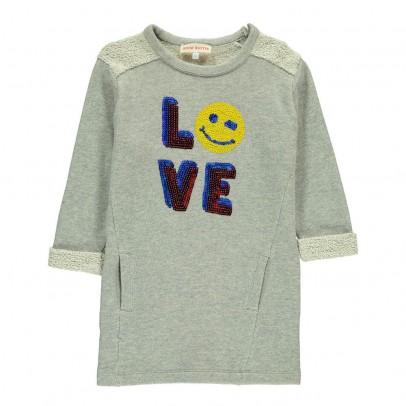 ANNE KURRIS Smiley Love Sequins Molli Sweat Dress-listing