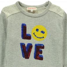 ANNE KURRIS Robe Molleton Smiley Love Sequins Molli-listing