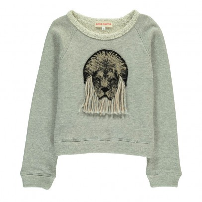 ANNE KURRIS Embroidered Lion Sweatshirt-listing