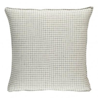 Linge Particulier Funda de almohada lino lavado Cuadros Blanco-Negro-listing