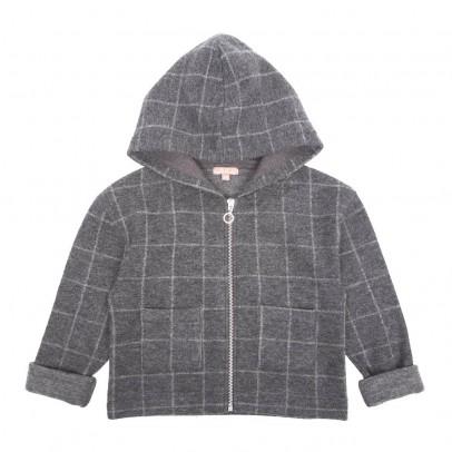 Emile et Ida Checked Zip-Up Hooded Sweatshirt-listing